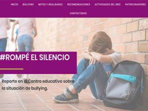 Campaña de Proyección Social Alto al bullying - Rompé el silencio