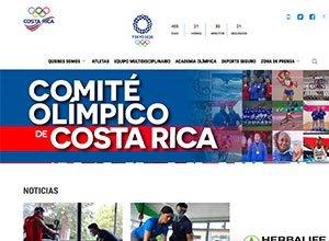 Comdigital - Desarollo Web Entregado, cliente Comite Olímpico de Costa Rica
