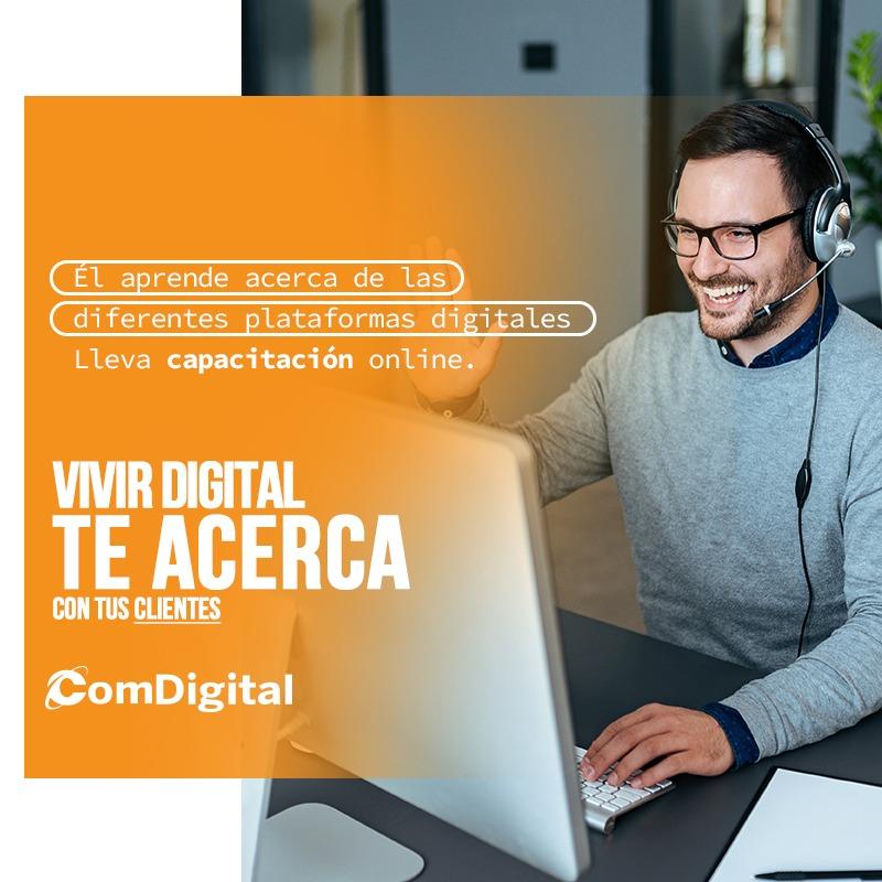Comdigital Agencia - El aprende acerca de las diferentes plataformas digitales, lleva capacitación online