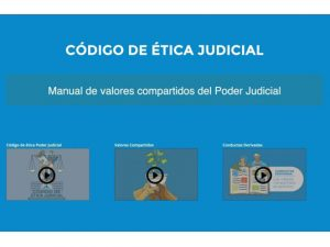Comdigital - Desarollo Web Entregado, Intranet Código de ética judicial, Poder Judicial