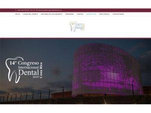 Comdigital - Desarollo Web Entregado, Landing page Evento 14 Congreso Internacional Dental 2019