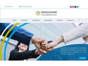 Comdigital - Desarrollo Web Entregado, Sitio Web Educación Cooperativa Infocoop