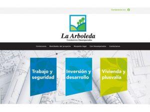 Comdigital - Desarollo Web Entregado, cliente La Arboleda Condominio Desamparados