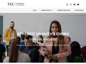 Comdigital - Desarollo Web Entregado, cliente TEC Inglés